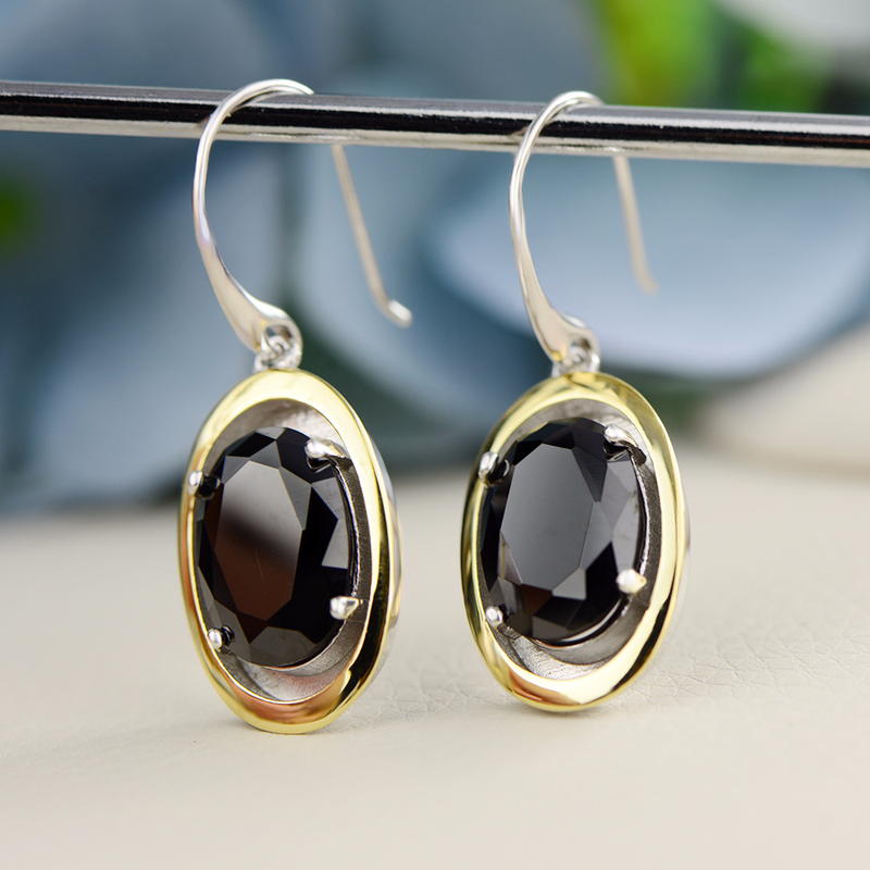 925 boucles d'oreilles en argent Sterling déclaration grandes boucles d'oreilles pour les femmes Zircon griffe réglage en gros Lots en vrac bijoux Oorringen