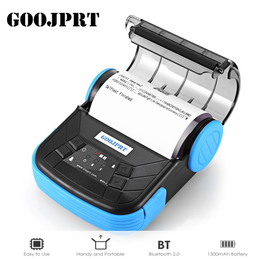 D'origine GOOJPRT MTP-3 Portable 80mm Bluetooth 2.0 Android Thermique POS Imprimante Thermique Ligne D'impression 1500 mah Soutient ESC/ POS
