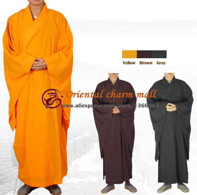 free shipping High Quality Shaolin Temple Buddhist Robe Zen Buddhism Meditation Gown haiqing shaolin monk clothing Kung fu Suit stephan bodian buddhism for dummies