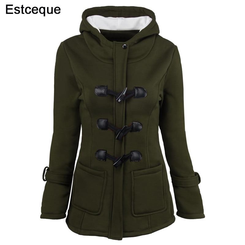 Women Basic Jackets New Women's 6 Colors Single Breasted Causal Outwear Female Hooded Coat Casaco Feminino Ladies Jacket 6XL