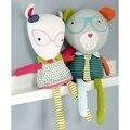 Kawaii фокс медведь игрушки для детей baby boy девушка и плюшевые игрушки животные детская комната украшения новорожденных постельные принадлежности Успокоить куклы