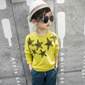 white yellow printed cotton kid t-shirt for boys tees tops clothes children long sleeve o-neck t-shirt boys spring summer 2017