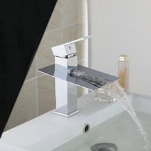 Soild Brass Torneira New Brand Waterfall Bathroom Chrome Deck Mount Jn6101 Single Handle Wash Basin Sink
