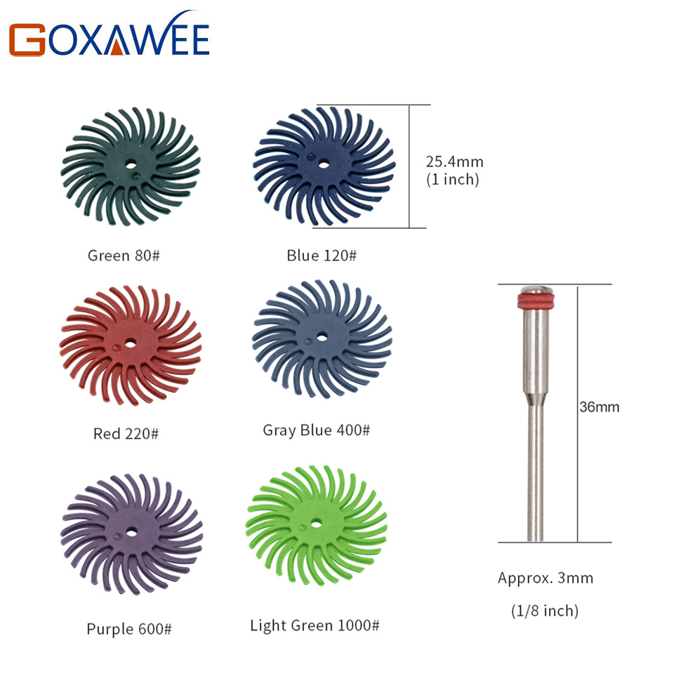 GOXAWEE 10pcs Cepillo abrasivo Herramientas rotativas para accesorios - Herramientas abrasivas - foto 2