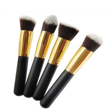 2016New 4PCS High Quality Maquiagem Makeup Brushes  Beauty Cosmetics Foundation Blending Blush Make Up Brush Tool