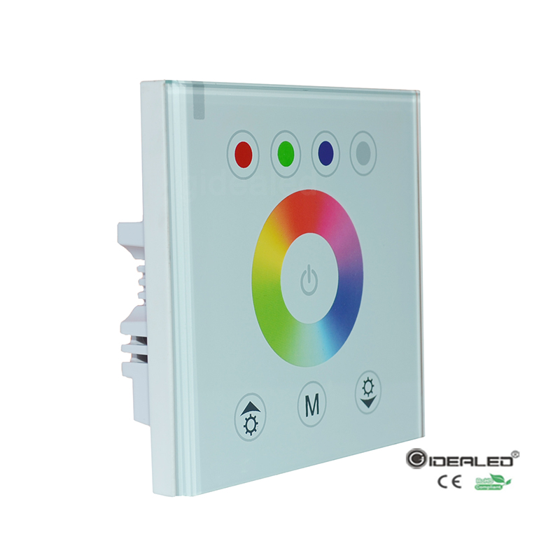 wholesale 4 channel rgbw led controller with touch panel wall mounted for rgbw led strip lights. Black Bedroom Furniture Sets. Home Design Ideas