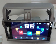 10.1inch android car gps radio player for Toyota Prado 2014 2015  with Quad core 1.6GHz CPU 1024×600 HD digital screen 16G rom