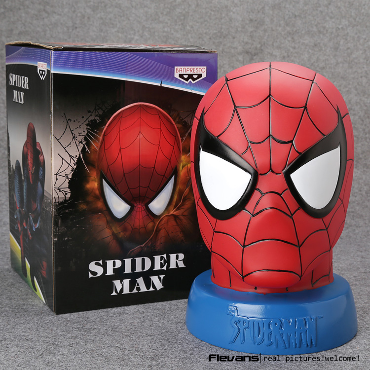 Spiderman Spider-man PVC Action Figure Collectible Model Toy Piggy Bank 24CM Free Shipping HRFG225 kung fu panda 3 po piggy bank pvc action figure collectible model toy kids gift 18cm