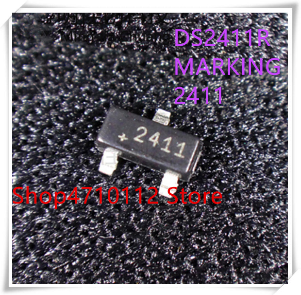 NEW 10PCS/LOT DS2411R TR DS2411 MARKING 2411 SOT23-3 IC
