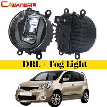 Cawanerl For Nissan Note E11 MPV 2006-2013 Car Accessories LED Fog Light DRL Daytime Running Lamp White 12V Styling 2 Pieces(China)