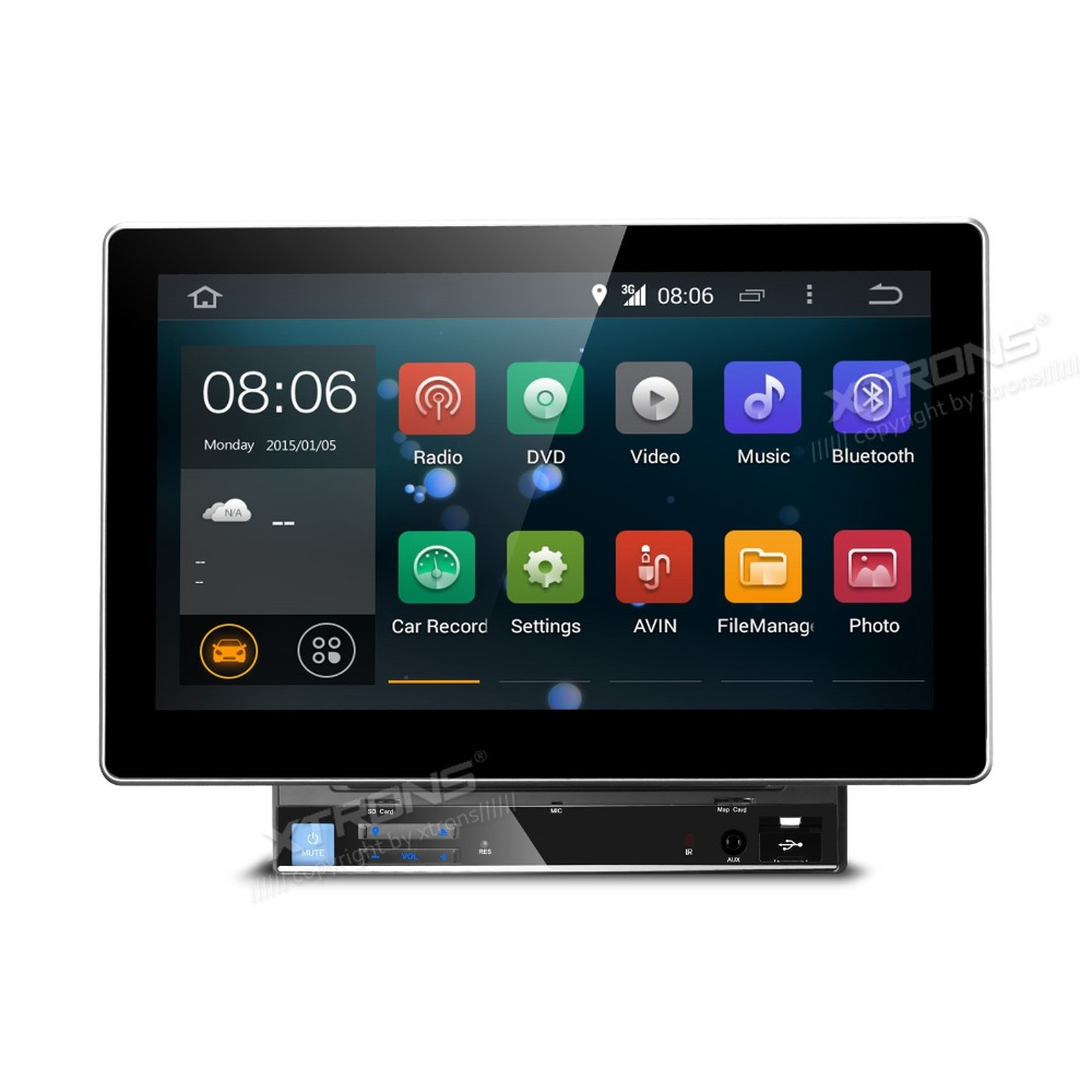 xtrons 10 1 2 din car dvd player android 4 4 4 quad core. Black Bedroom Furniture Sets. Home Design Ideas