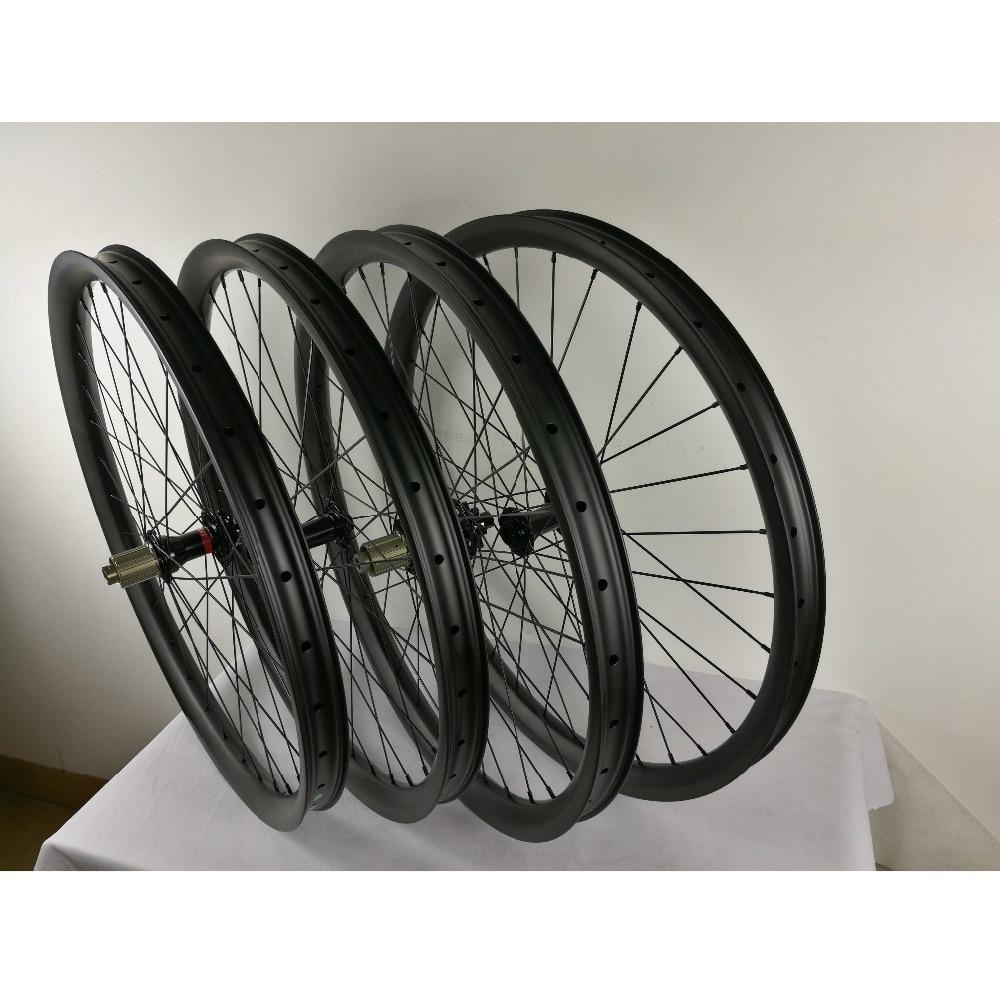 Колеса для горного велосипеда 29ER PLUS, широкие Углеродные MTB колеса с NOVATEC BOOST, ступица 40 мм, Ширина 30 мм, глубина колеса 440 г, вес обода