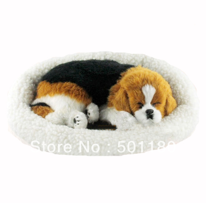 free shipping toy sleeping dog looks real breathing dog sleeping in party diy decorations from. Black Bedroom Furniture Sets. Home Design Ideas