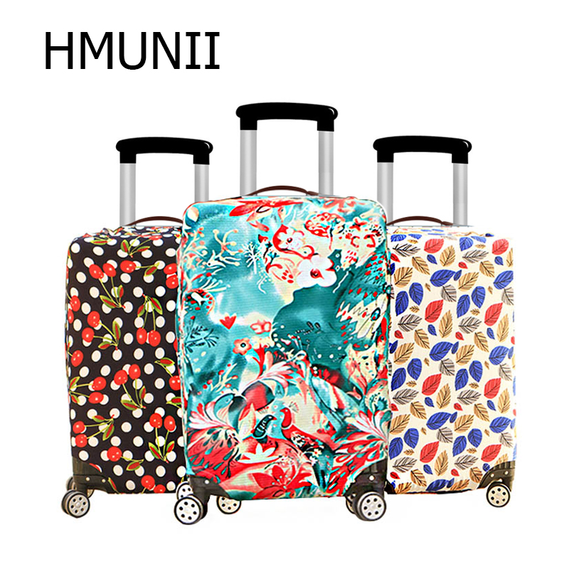 HMUNII Fashion Colorful Luggage Protective Cover For 18 To 30 Inch Trolley Suitcase Elastic Dust Bags Case Travel Accessories