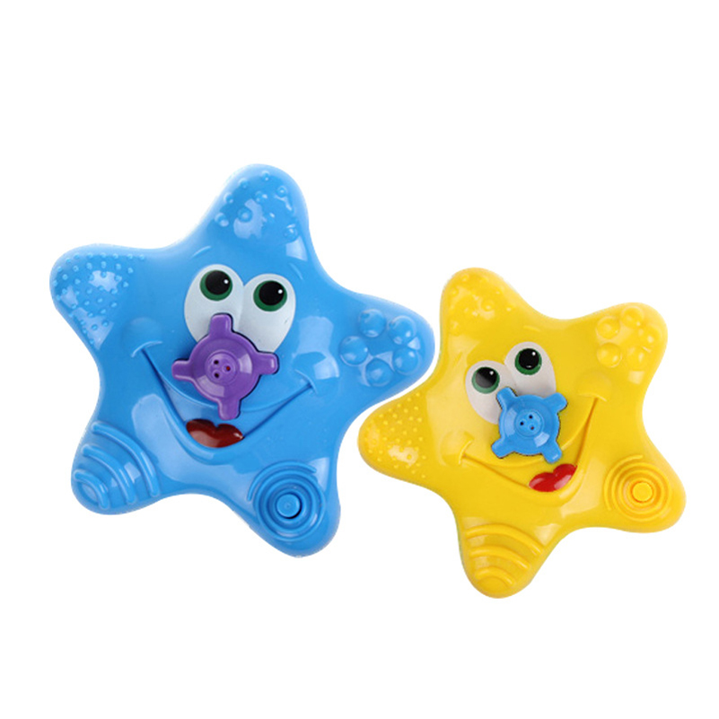 1 Piece Baby Shower Bathing Water Bath Toy Electric Starfish Shower Faucet Baby Swimming Floating Water