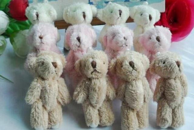 Mini 5CM Fluffy Teddy Bear Plush Stuffed TOY DOLL ; Wedding Bouquet Candy BOX TOY DOLL ; Garment & Hair Accessories TOY DOLL