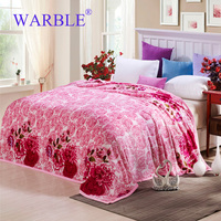 WARBLE Flannel Throw Blankets Bed Blanket 100 Microfiber Warm Cozy Fluffy Easy Care