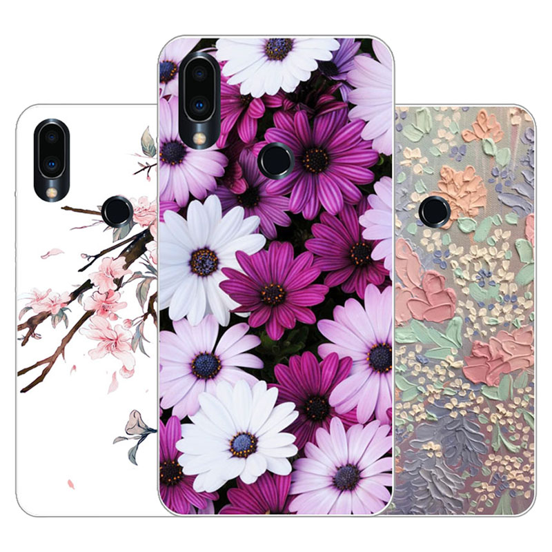 Meizu note 9 Case,Silicon Precious flower Painting Soft TPU Back Cover for Meizu note9 protect Phone cases
