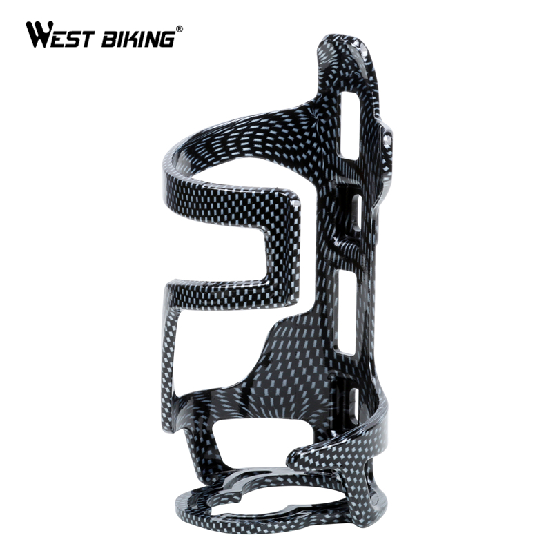 WEST BIKING Ultralight Carbon Fiber Bicycle Water Bottle Cage With Screws Cycling MTB Road Bike ABS Carbon Bicycle Bottle Holder