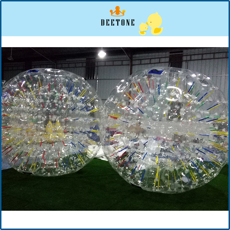 DEETONE 0.8mm 2.8m TPU Rolling Ball Bubble Football Inflatable Human Hamster Ball Air Bumper Body Ball, Bubble Soccer Zorb