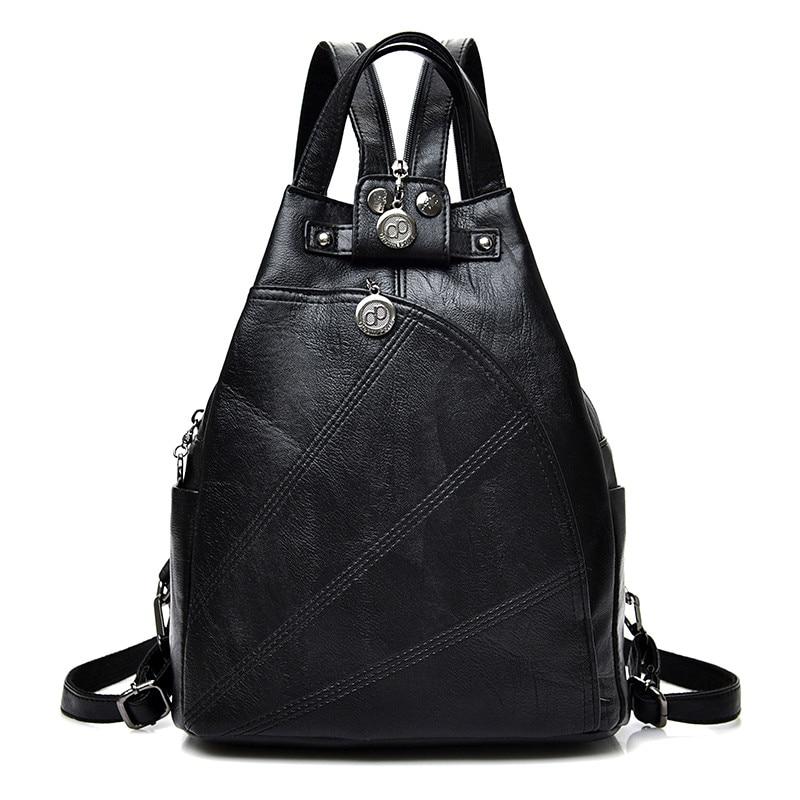 Fashion Leisure Women Backpacks Women's Pu Leather Backpacks Female School Shoulder Bags For Teenage Girls Travel Back Pack #2
