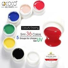 #86153 GDCOCO Venalisa pintura Gel empapar UV LED de 5 ml de Color puro Gel 36 colores Gel barniz Canni fábrica puro esmalte de uñas de Gel
