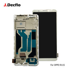цена на LCD Display For OPPO R11s Incell LCD Touch Screen Digitizer Full Assembly Replacement Black White With Frame 5.99'' TFT