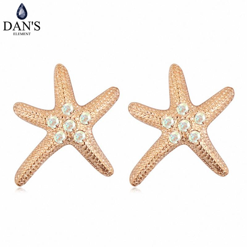 DANS Colors Real Austrian crystals Stud earrings for women Earrings s New Sale Hot Round 115798