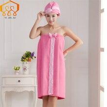 Lace Edge Bath Towel Set Spot Microfiber Fabric Bra Bow Magic Creative Lady Skirt Fast Drying Thicken Super Absorbent