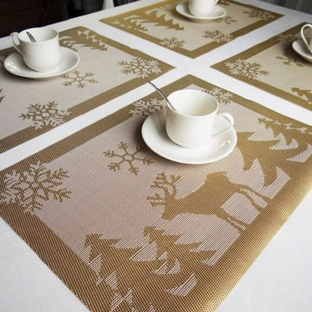 Modern Pvc Placemat Dining Table Pad Kitchen Tool Tableware Coaster Coffee Tea Bar Cafe Coasters Place Mat
