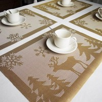 Modern PVC Placemat Dining Table Pad Kitchen Tool Tableware Pad Coaster Coffee Pad Tea Pad Bar Cafe Coasters Place Mat