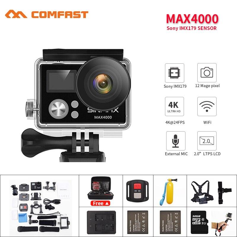Ultra HD 4K remote wifi helmet action cam 2.0 1080p/60fps Diving 30M waterproof Sport video kamera DVR update H9R bicycle cam