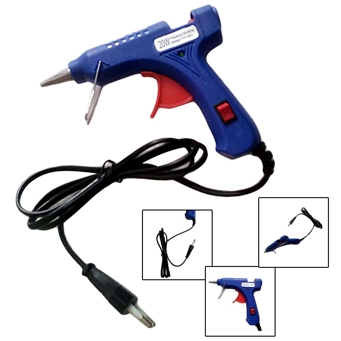 1Pcs Electric Heat Temperature Tool 20W EU Plug Hot Melt Glue Gun Industrial Mini Guns Thermo