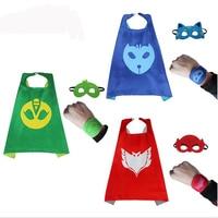 PJ Masks Cloak Cape Mask Role Play Cloak Cape Mask Owlette Gecko Pajamas Cosplay Action Toy