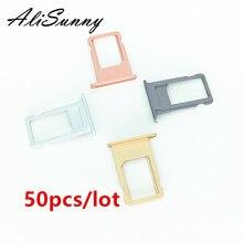 Alisunny 50 個 sim カード iphone 6 s 7 プラス 6SP 7 6p sim カードアダプタの交換部品