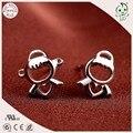 Мода Нежный И Милый 100% Стерлингового Серебра 925 Прекрасный Ангел Шпилька Серьги