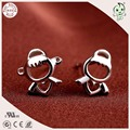 Fashion Delicate And Cute 100% 925 Sterling Silver Lovely Angel Stud Earring