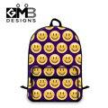 Dispalang Crianças Escola Bags Para Adolescentes Emoji Impressão Homens Mulheres Laptop Mochilas Estudantes bolsa de Ombro Schoolbag Saco de Livro Mochila