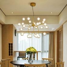 Candelabro luciérnaga LED moderno, lámpara de araña de rama de árbol con estilo, lámparas de techo decorativas, iluminación Led colgante