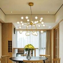 Plafonnier suspendu moderne, design rappelant des branches darbre et des lucioles, luminaire décoratif de plafond, luminaire dintérieur, modèle LED, modèle Led