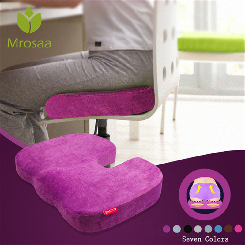 New Travel Breathable Coccyx Orthopedic Memory Foam U Seat Massage Seat Health Chair Cushion Pad For Car Office Home Decoration