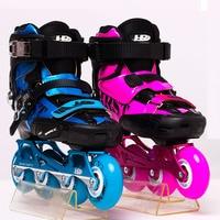 2019 HR Carbon Fiber Slalom Inline Skates Child EUR size 30 38 Adjustable Free Skating Shoes Sliding Patines Similar SEBA igor