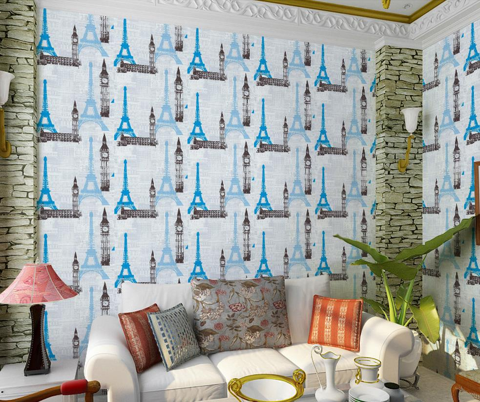 ФОТО Europe style Tower Restaurant creative personality fashion clothing store sofa background wallpaper