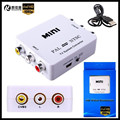 1080P HD MINI TV System Converter PAL to NTSC Adapter (Conversion to each other) for DVD/VCR/DVR/PS2/TV/Monitor/Projector+Cable