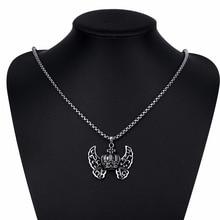 316L Titanium Steel Long font b Necklace b font Men Jewelry Vintage font b Steampunk b