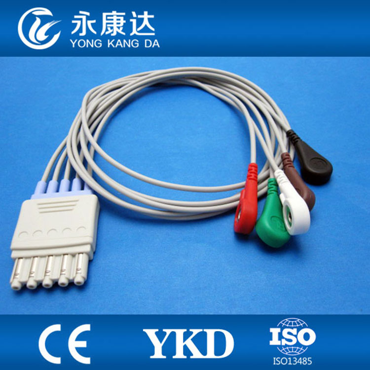5 leads ECG Trunk patient Cable for medical use5 leads ECG Trunk patient Cable for medical use