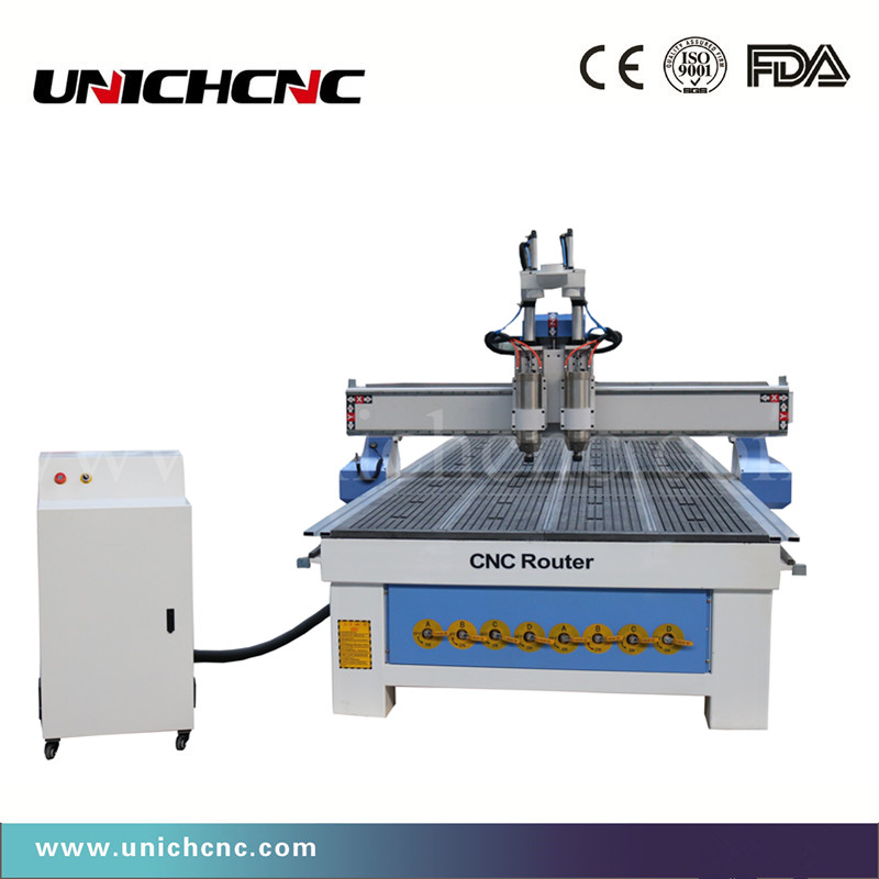 Fast Speed 1500*3000mm Cnc Router Engraving Machine Two Process