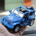 Jeep Wrangler Alloy car models policeman car toy model Convertible SUV Camouflage Sound and light  model araba