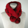 Rabbit Fur Short Collar Neck Warmer Scarf Warm Black Girl in winter Neck warm short scarf