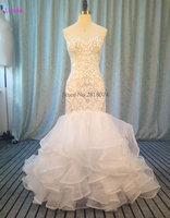 Elegant Tulle Sweetheart Neckline Mermaid Wedding Dress With Beaded Embroidery Vestidos De Novia